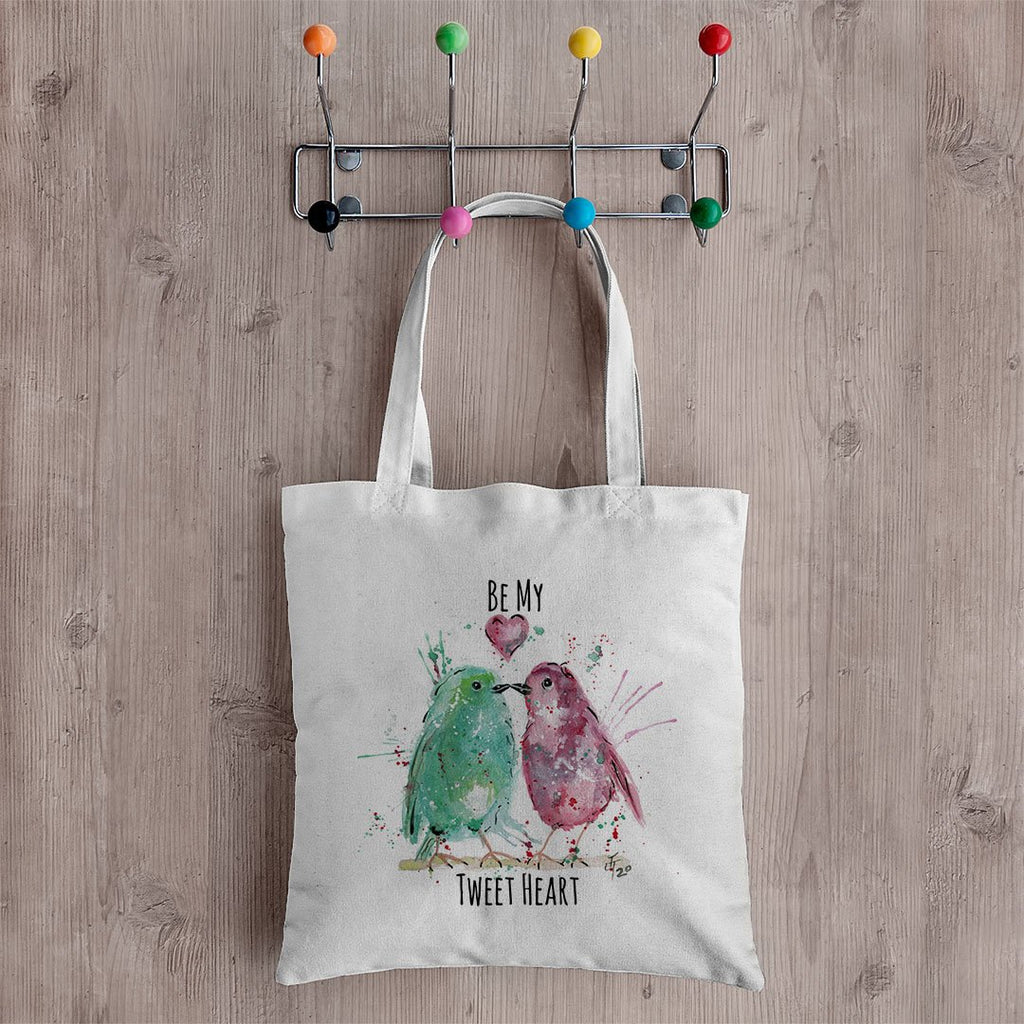 Be My Tweet Heart Canvas Tote Bag
