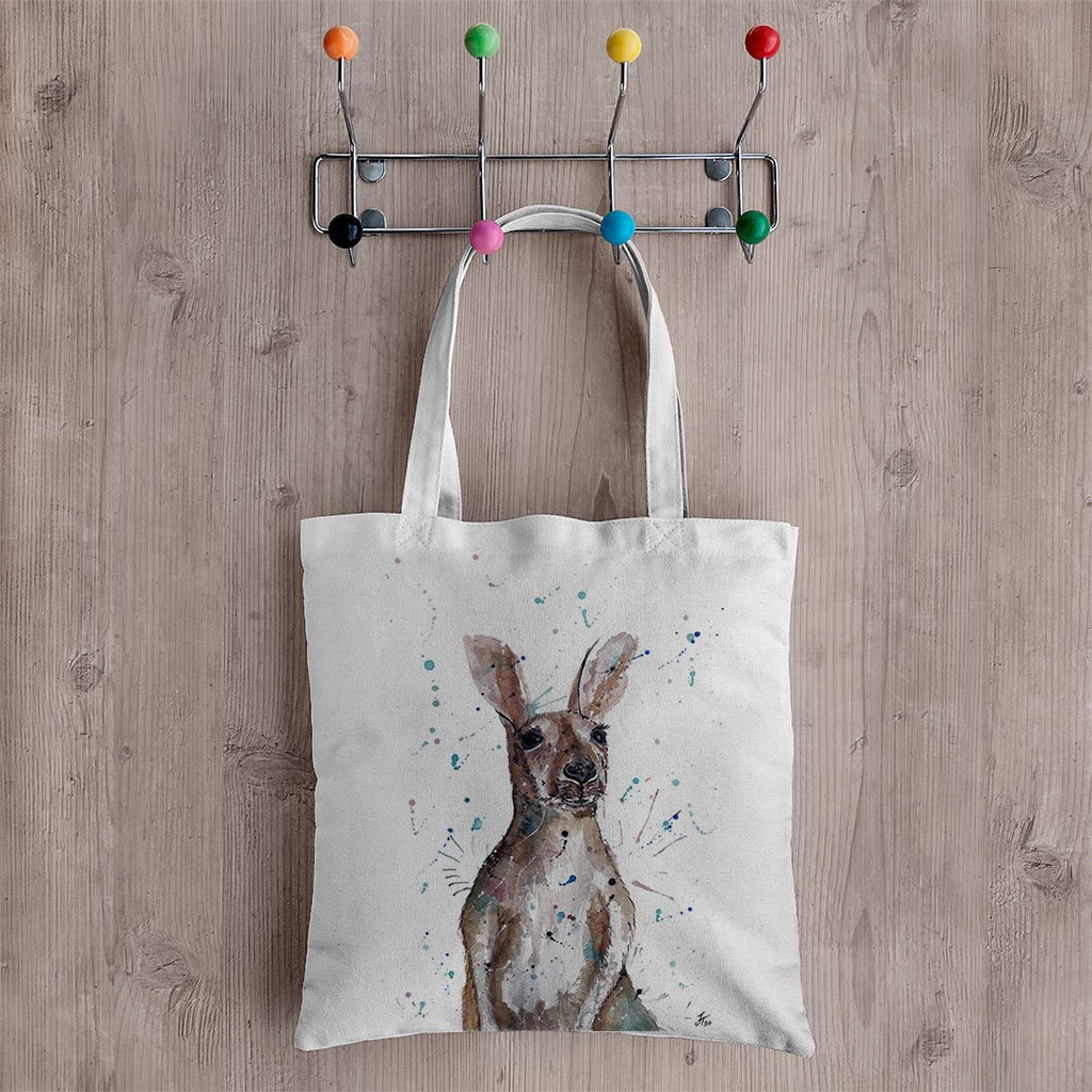 """Casey"" Kangaroo Canvas Tote Bag"