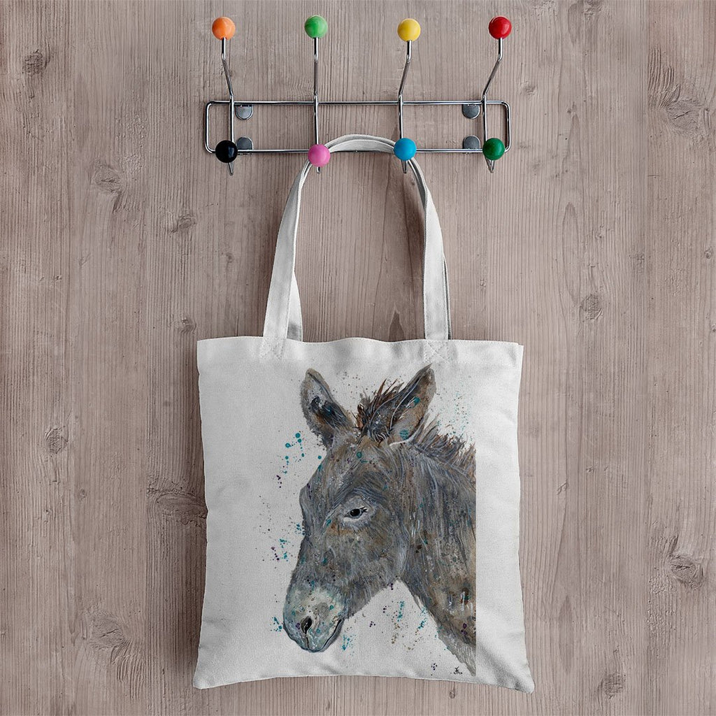 """Dennis"" Donkey Canvas Tote Bag"
