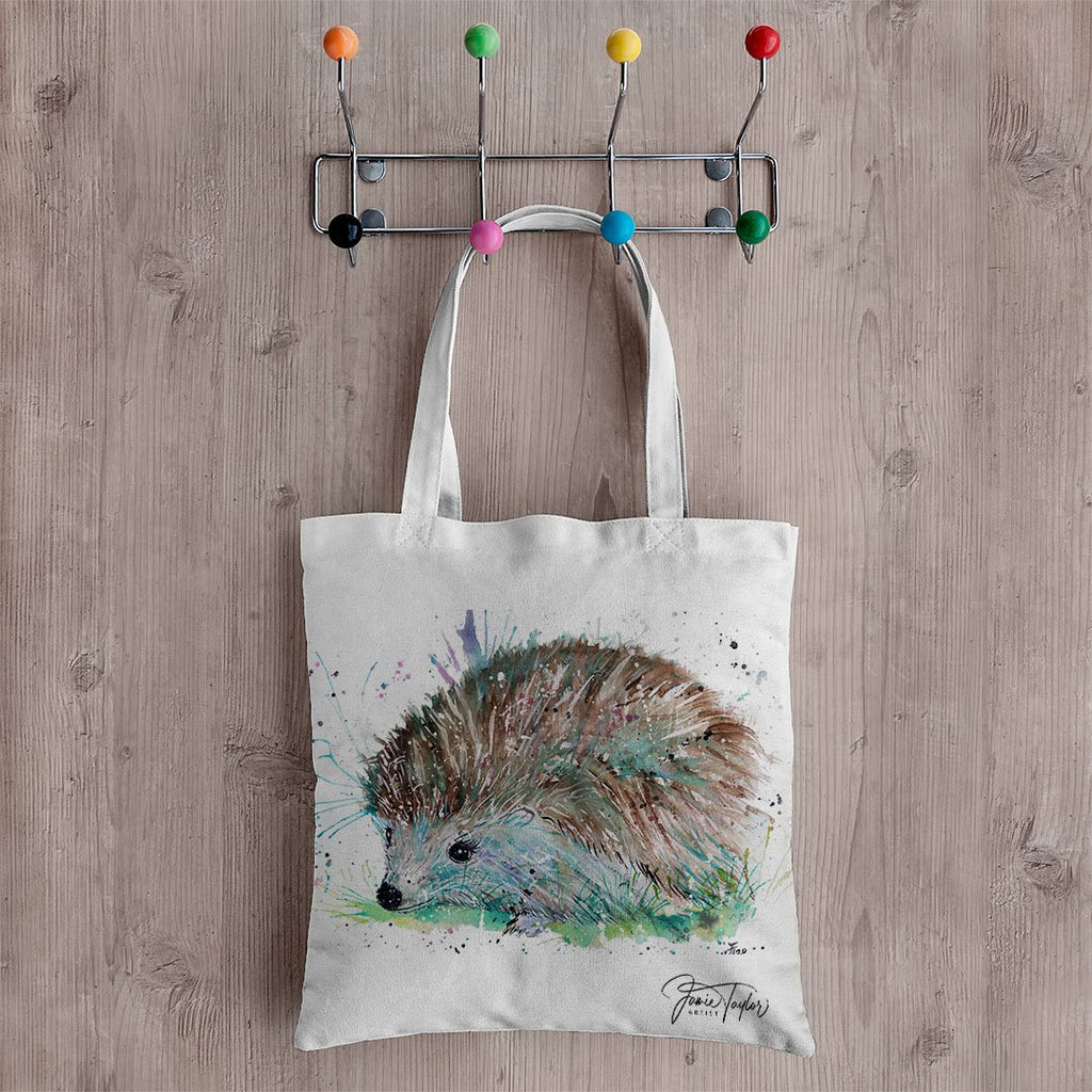 """Sweet"" Hedgehog Canvas Tote Bag"
