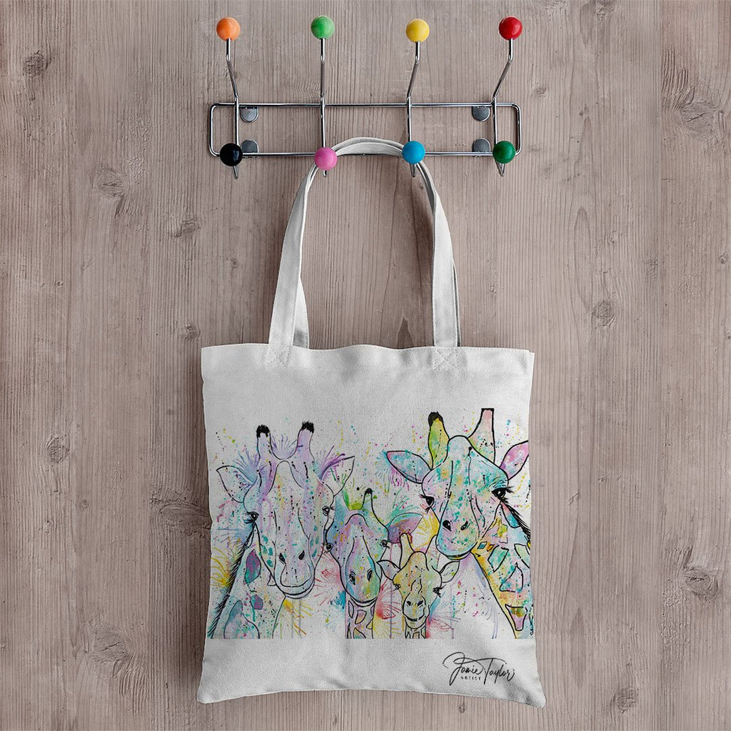 Hello! Giraffes Canvas Tote Bag