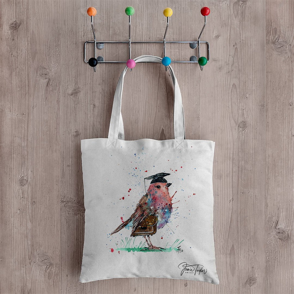 """Teach"" Robin Canvas Tote Bag"