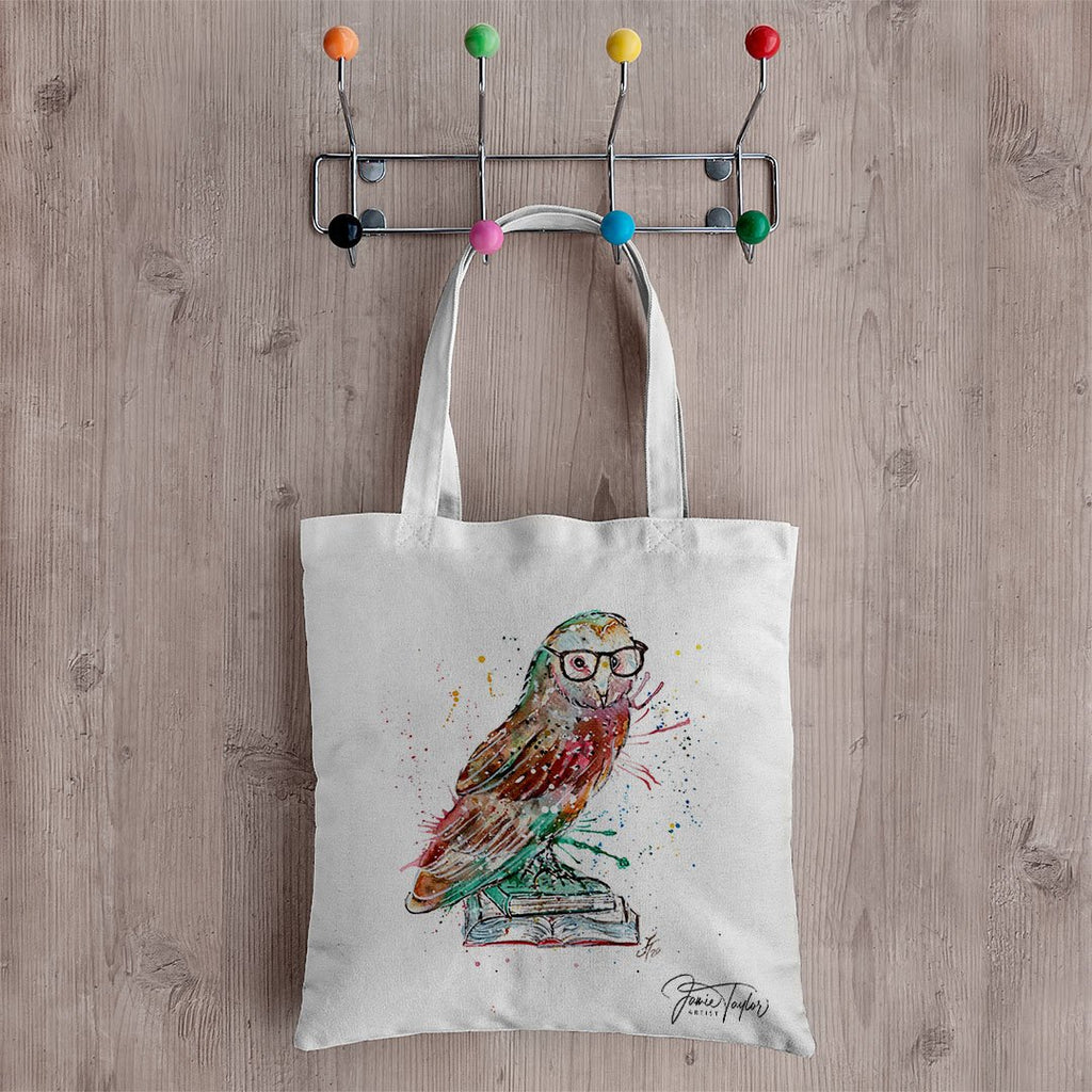 """Knowledge"" Owl Canvas Tote Bag"