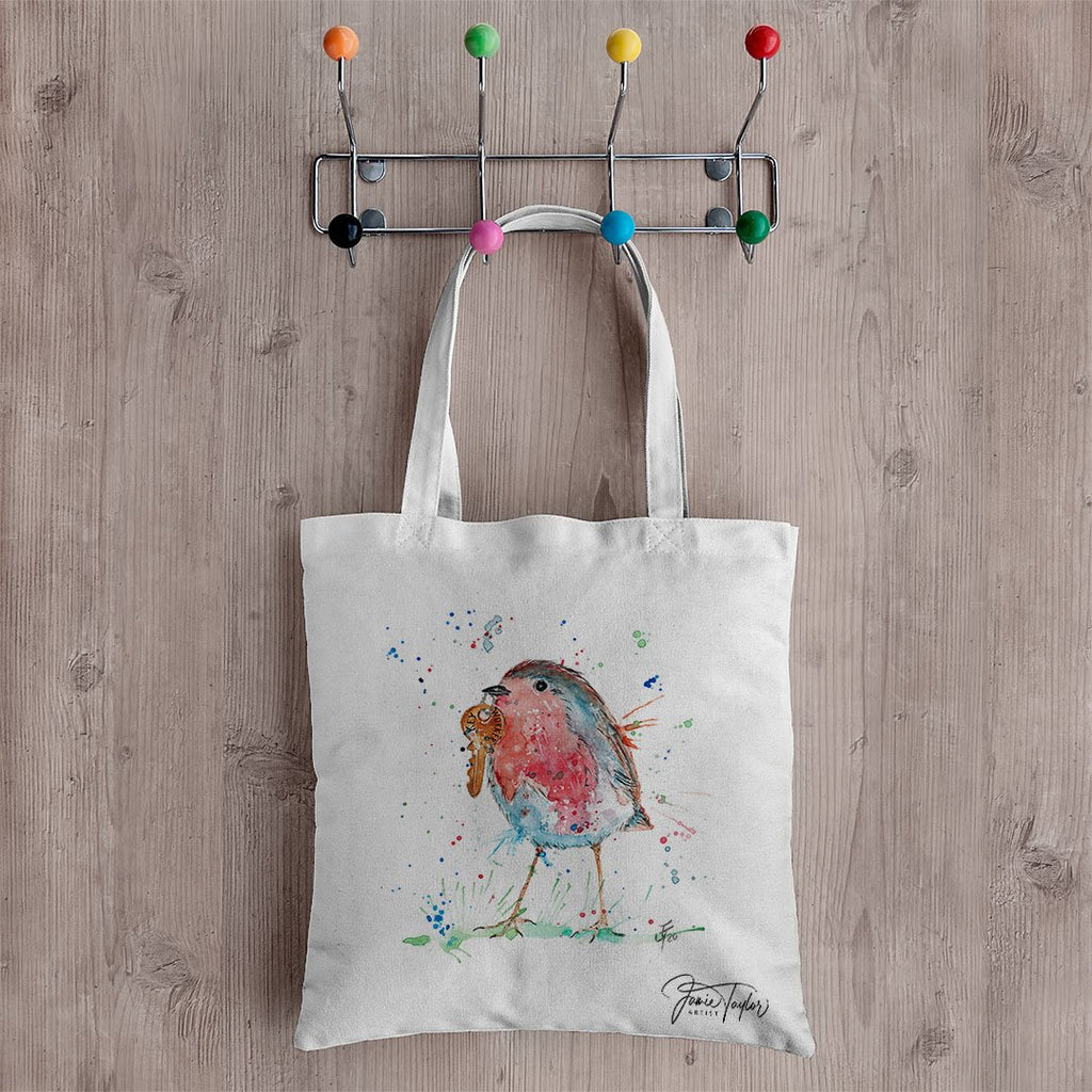"""Grateful"" Robin Canvas Tote Bag"