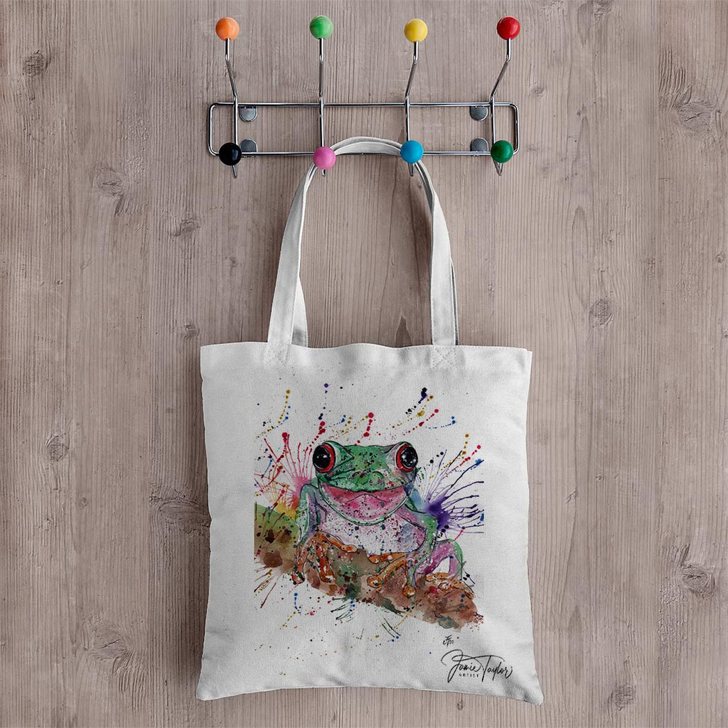 Chris the Frog Canvas Tote Bag
