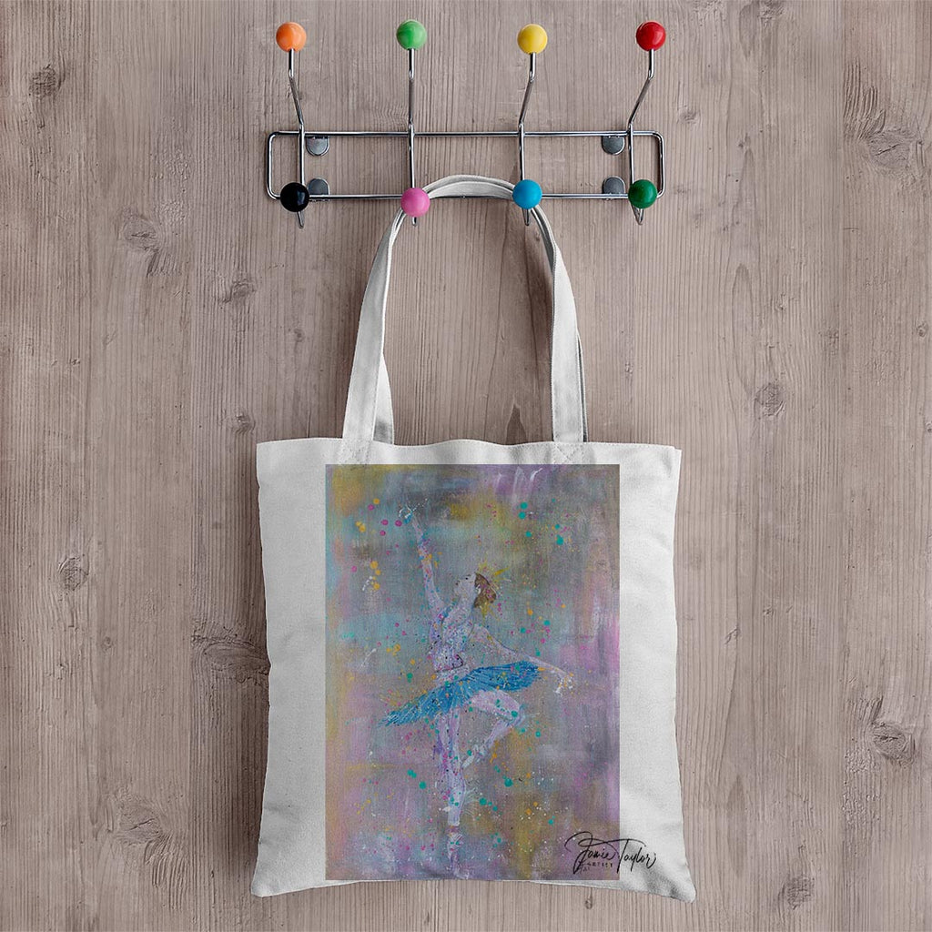 """Dainty"" Ballerina Canvas Tote Bag"