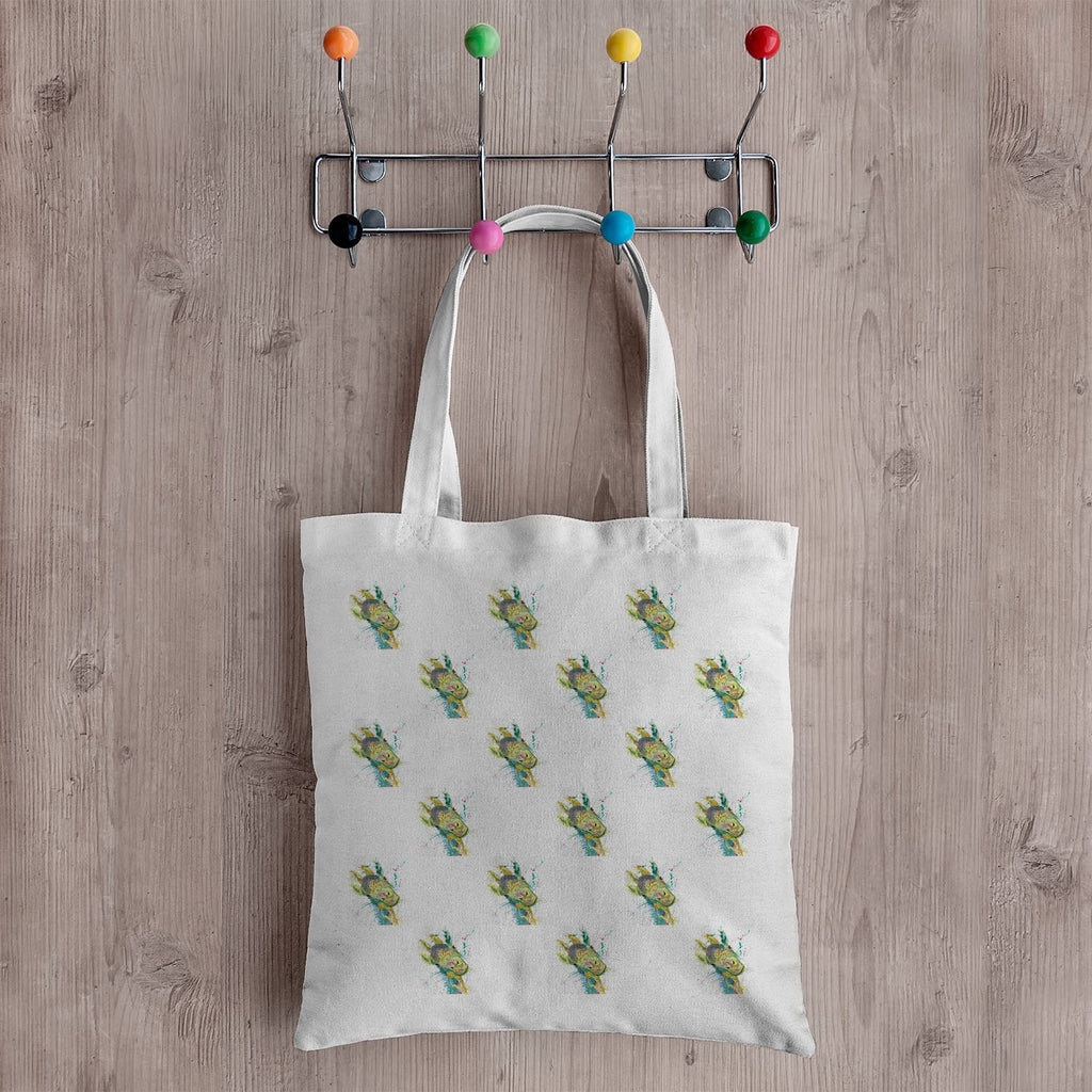 """Hattie"" Giraffe Repeat Canvas Tote Bag"