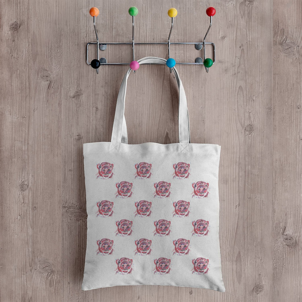 """Priscilla"" Pig Repeat Canvas Tote Bag"