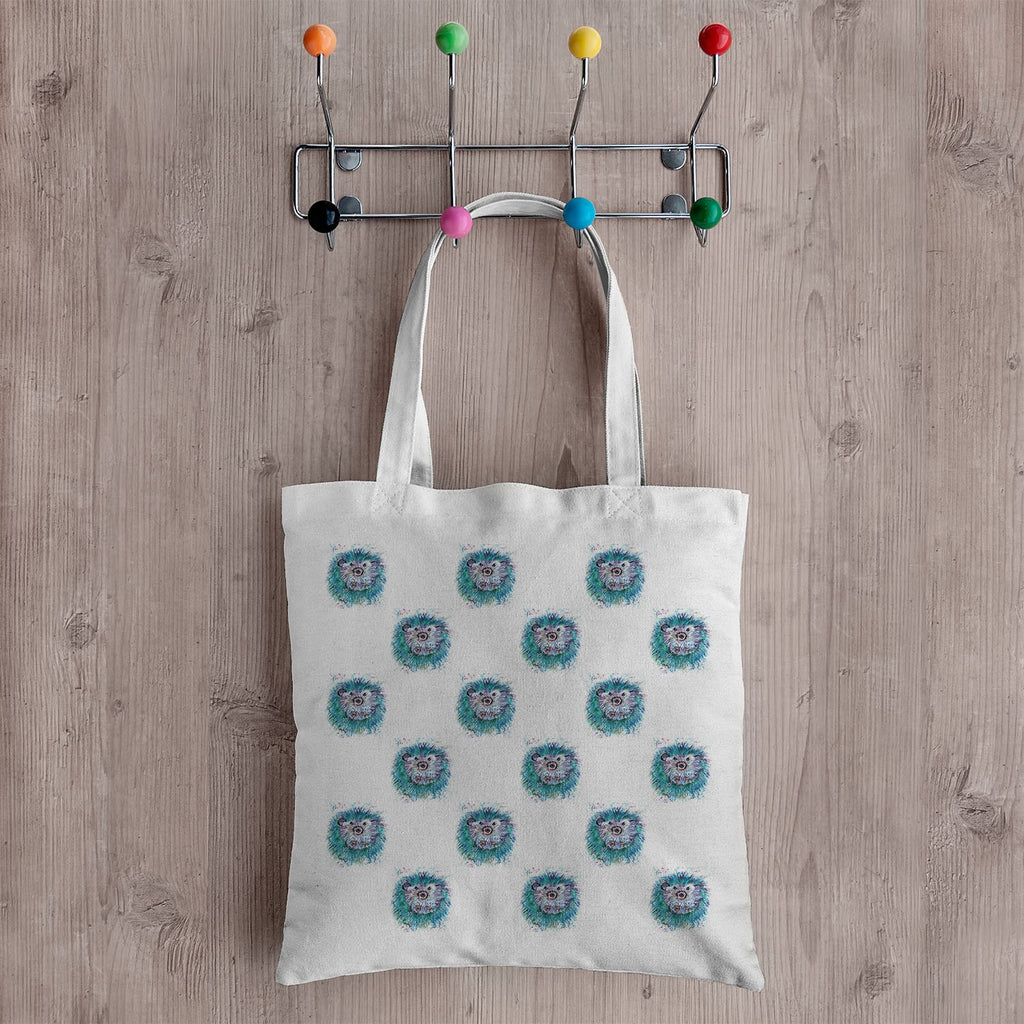 """Maisey"" Hedgehog Repeat Canvas Tote Bag"