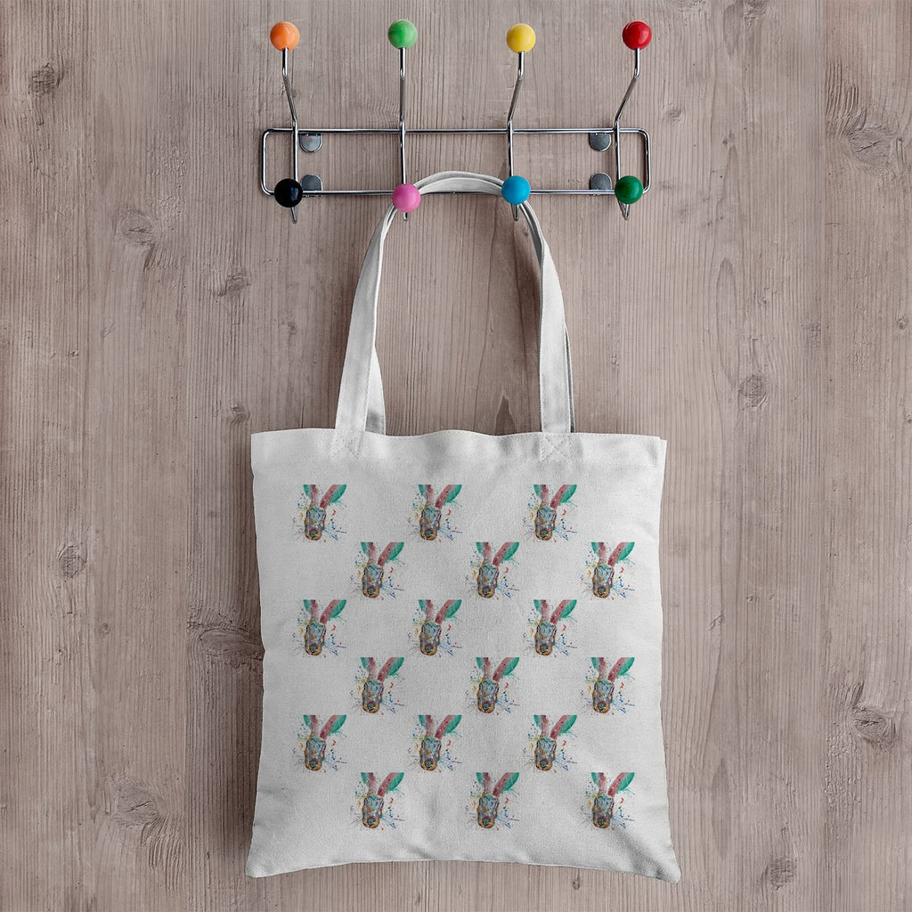 Riddle Hare Repeat Canvas Tote Bag