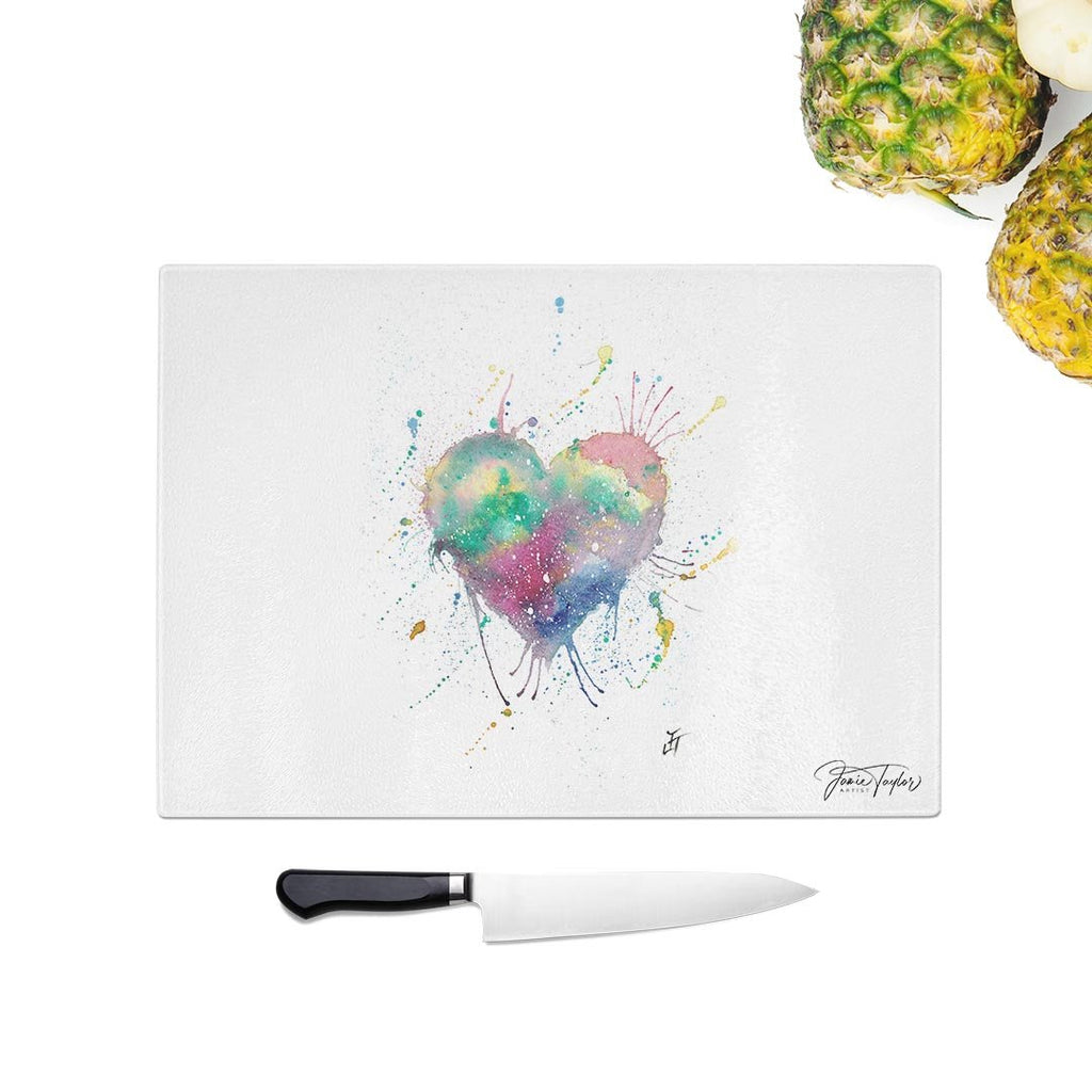 Heart Glass Chopping Board