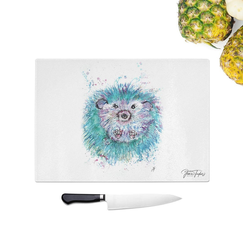 """Maisey"" Hedgehog Glass Chopping Board"