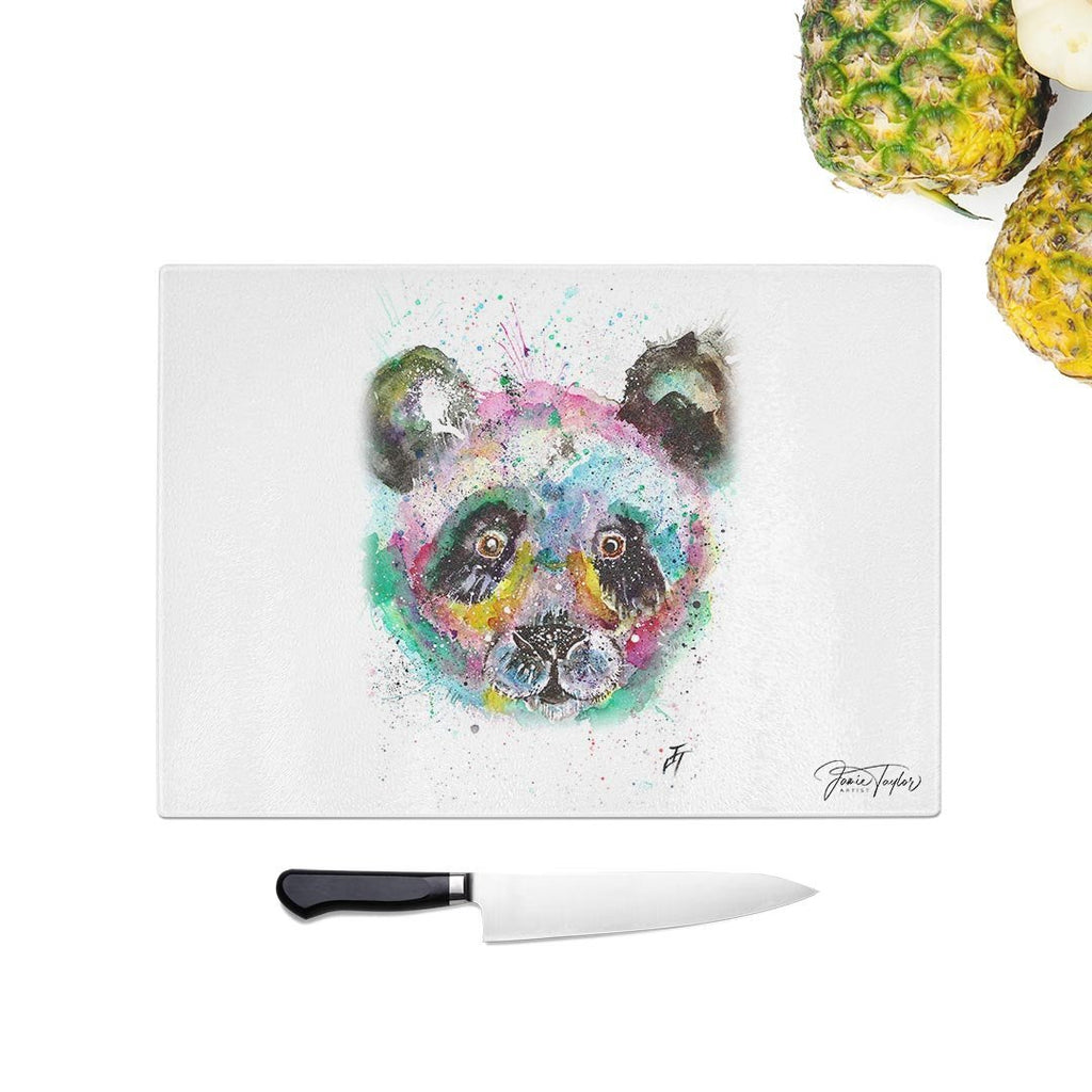 """Sid"" Panda Glass Chopping Board"