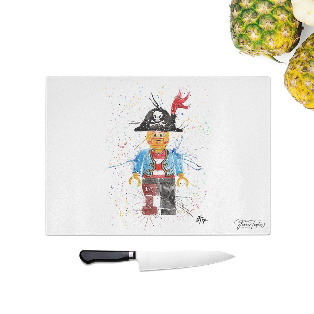 Arggghhh Pirate Glass Chopping Board