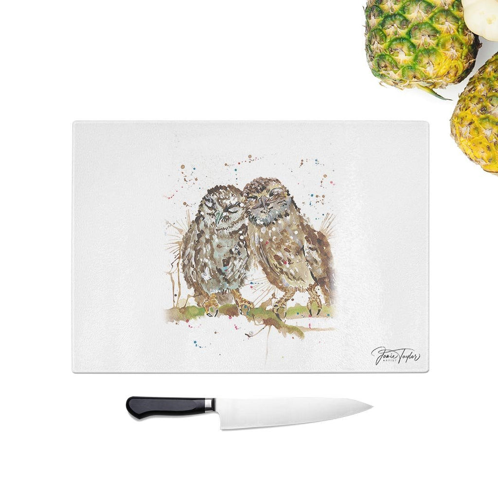 My Favourite Owl Glass Chopping Board