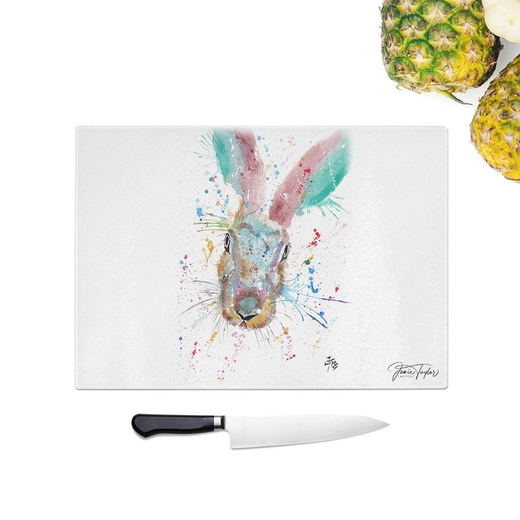 Riddle Hare Glass Chopping Board