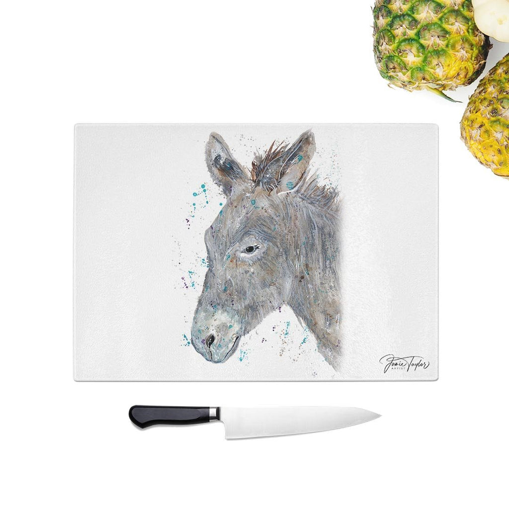 """Dennis"" Donkey Glass Chopping Board"