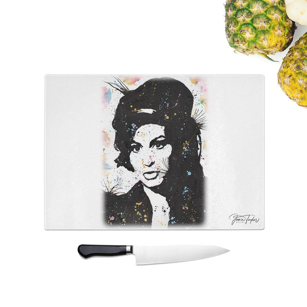 """Amy"" Glass Chopping Board"