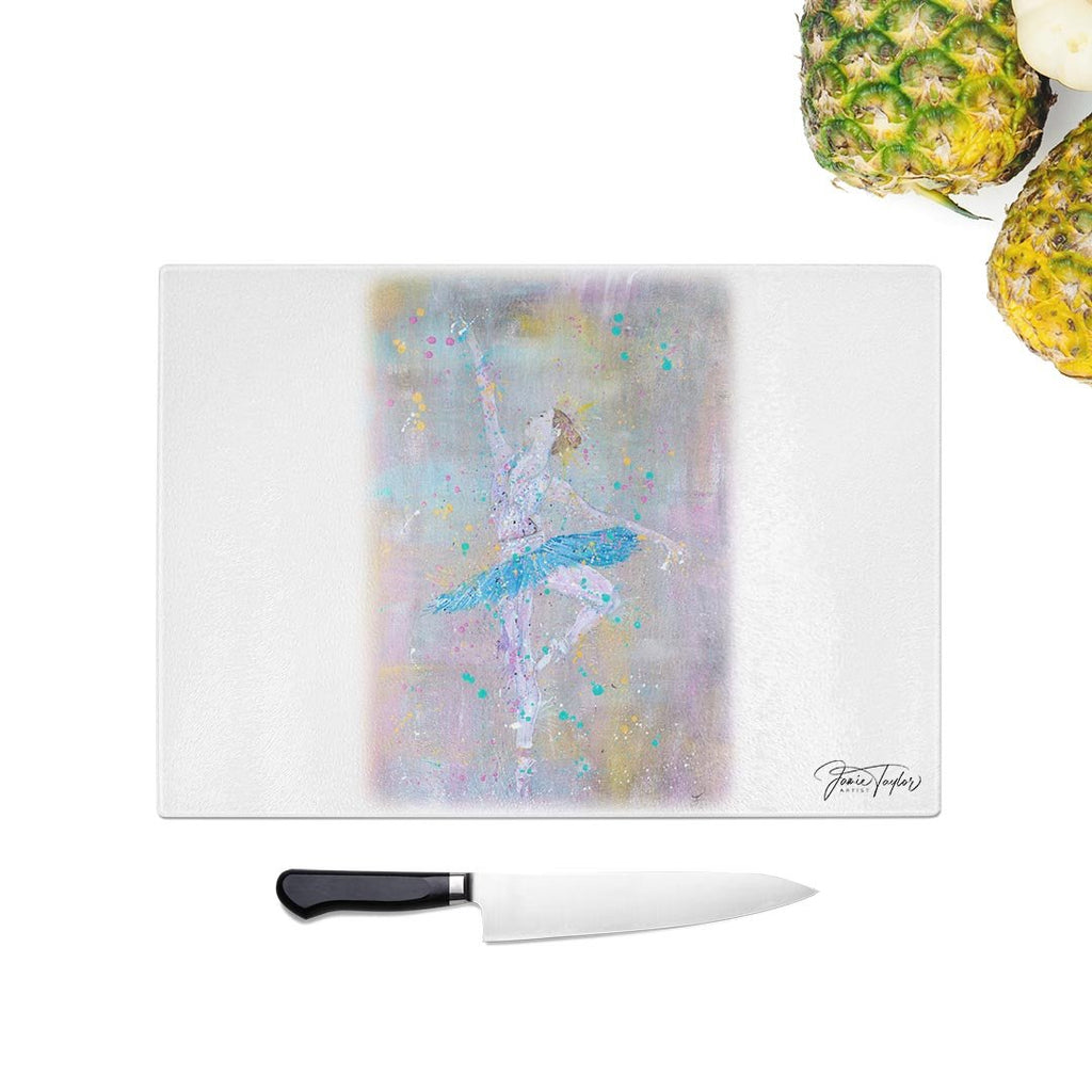 """Dainty"" Ballerina Glass Chopping Board"