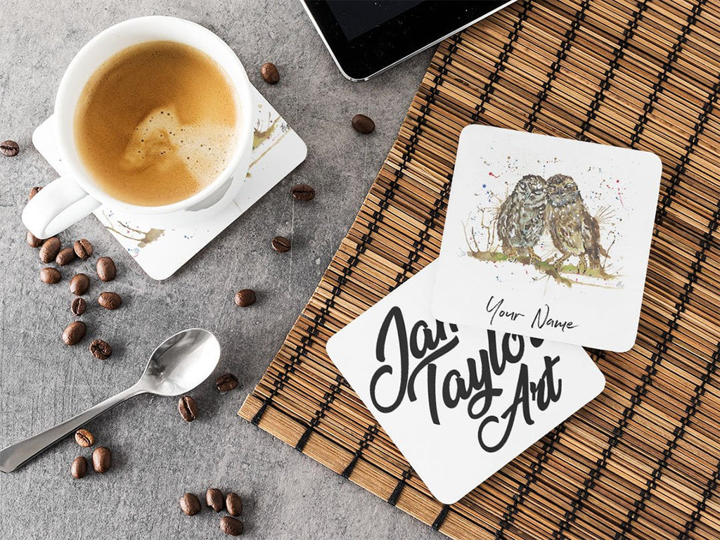 Personalised My Favourite Owl Hardboard Coaster