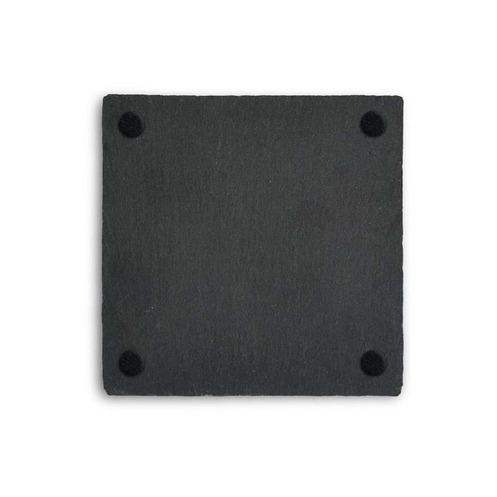 Up Pinks Square Slate Coaster