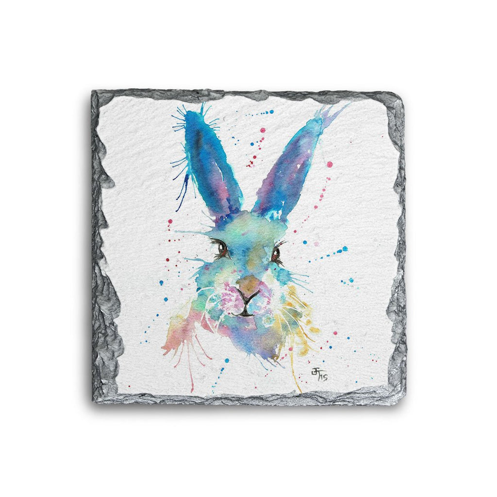Mr Bunny Square Slate Coaster