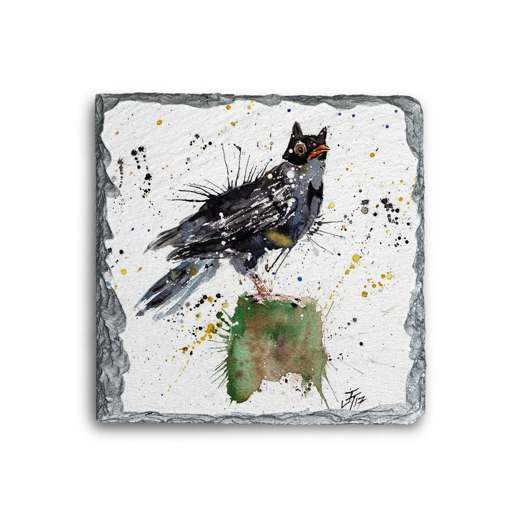Blackbird Batman Square Slate Coaster