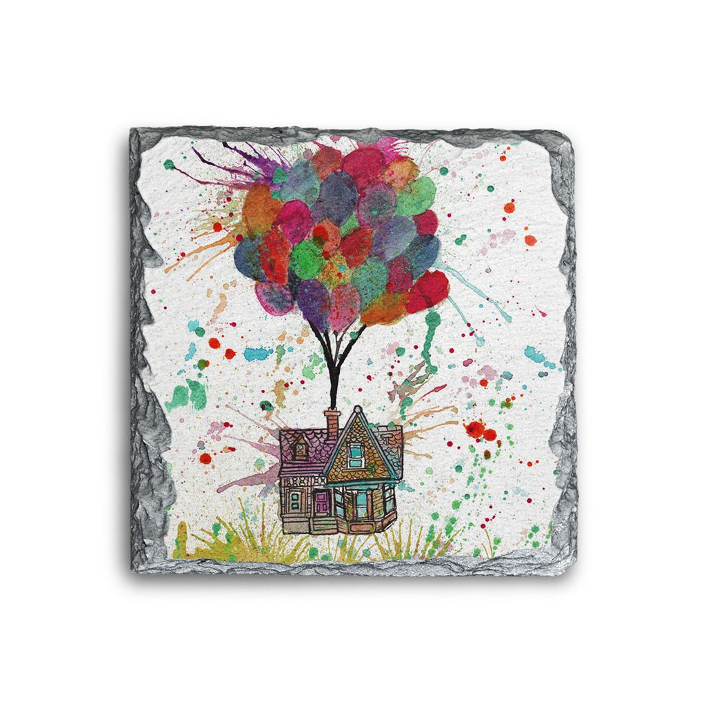 Up Square Slate Coaster