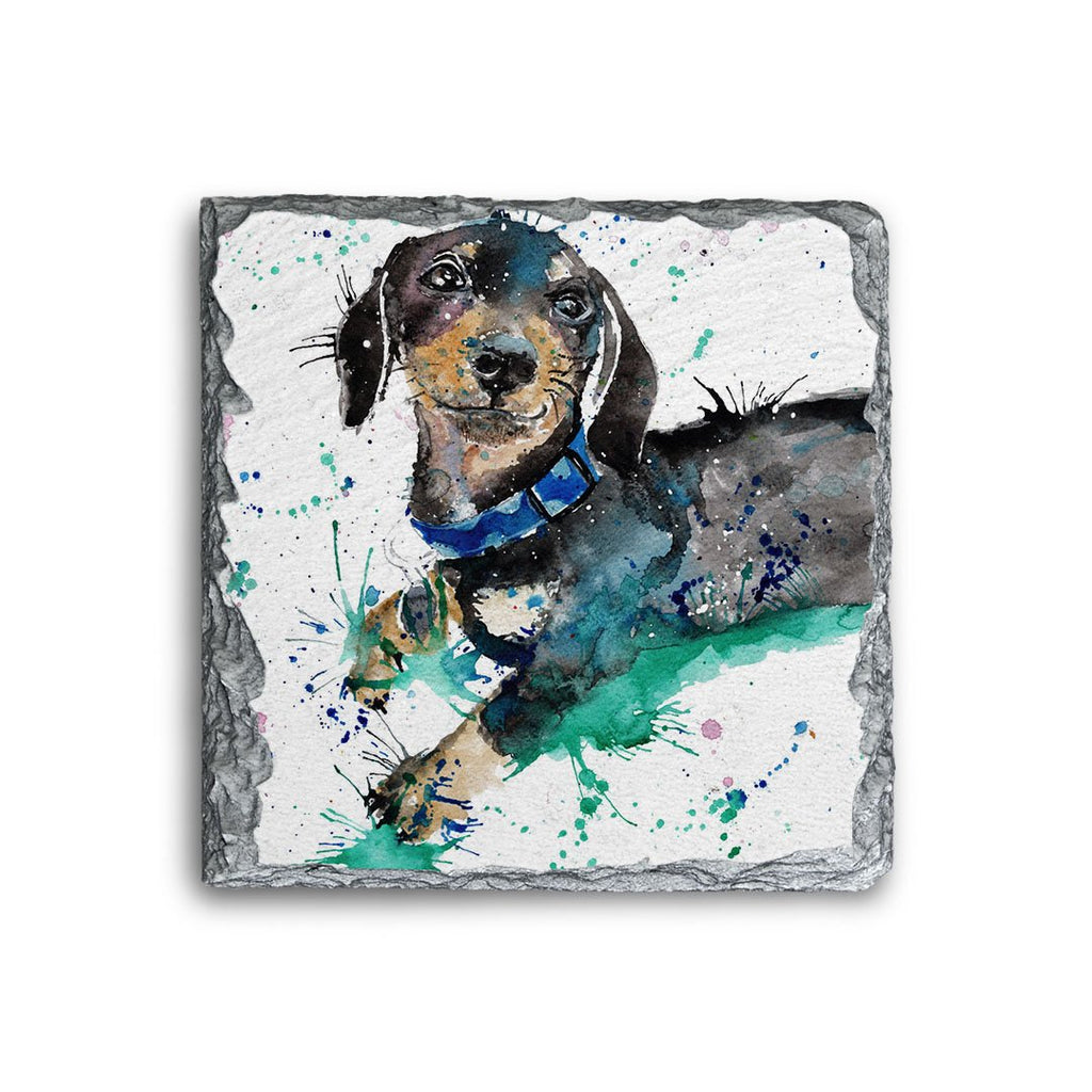 Michael Square Slate Coaster