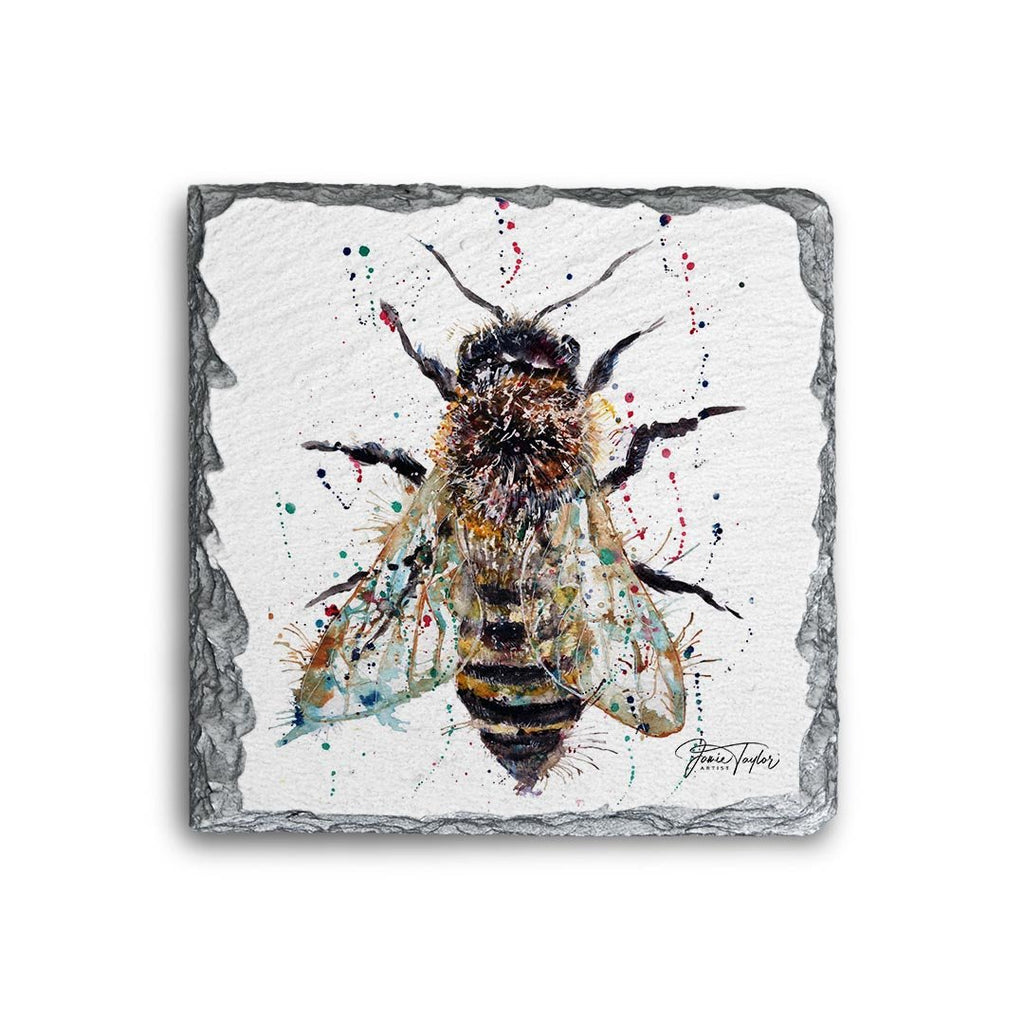 Honey Square Slate Coaster