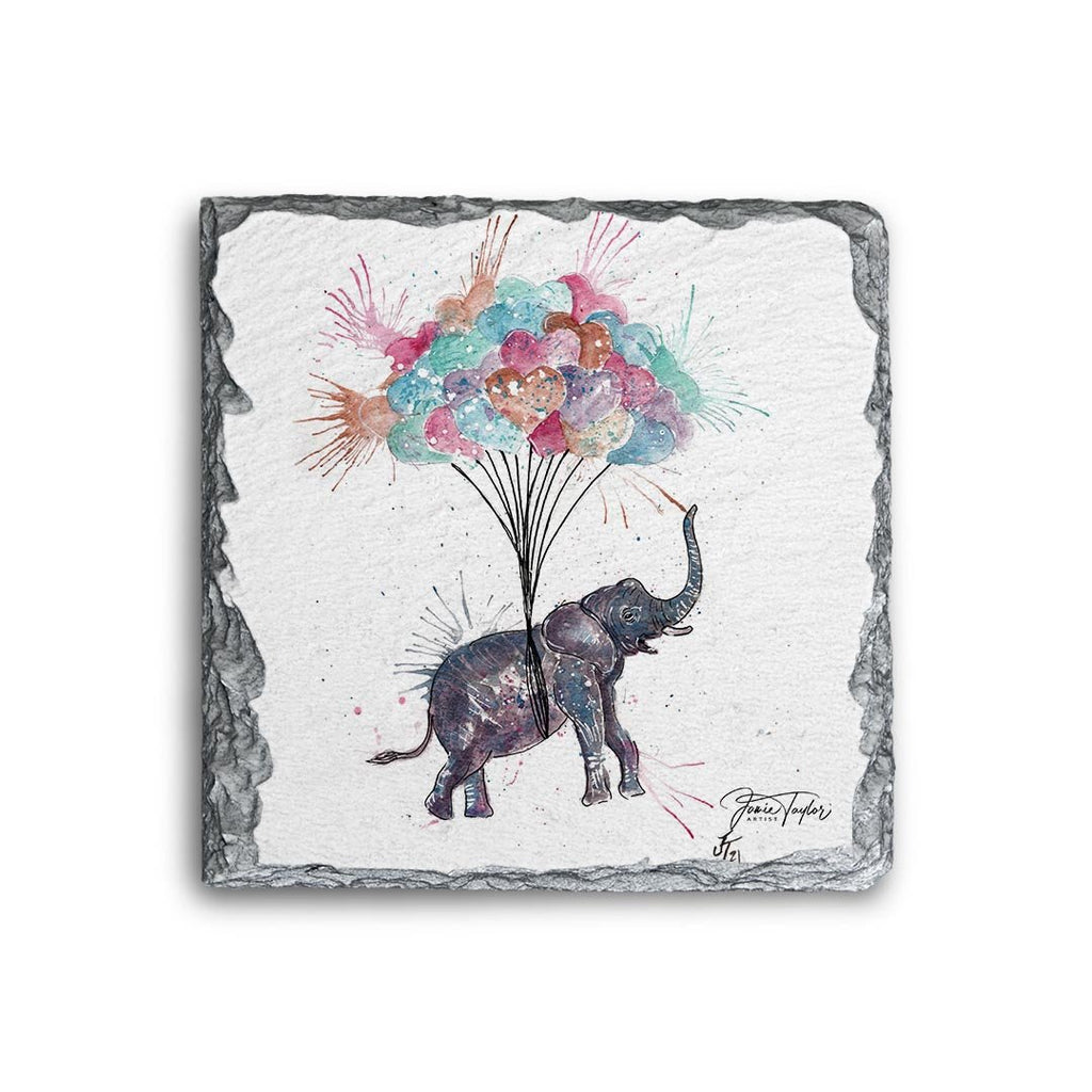 Up! Up! and Away! Square Slate Coaster
