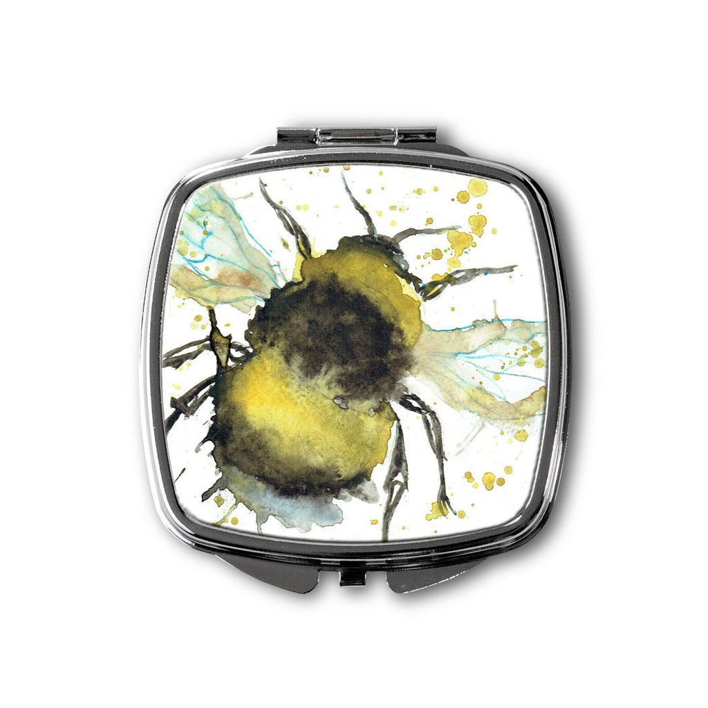 Bumble Bee Square Compact Mirror