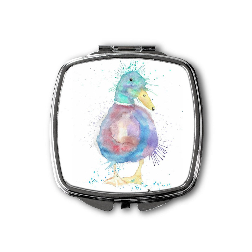 Monsieur Puddle Duck Square Compact Mirror