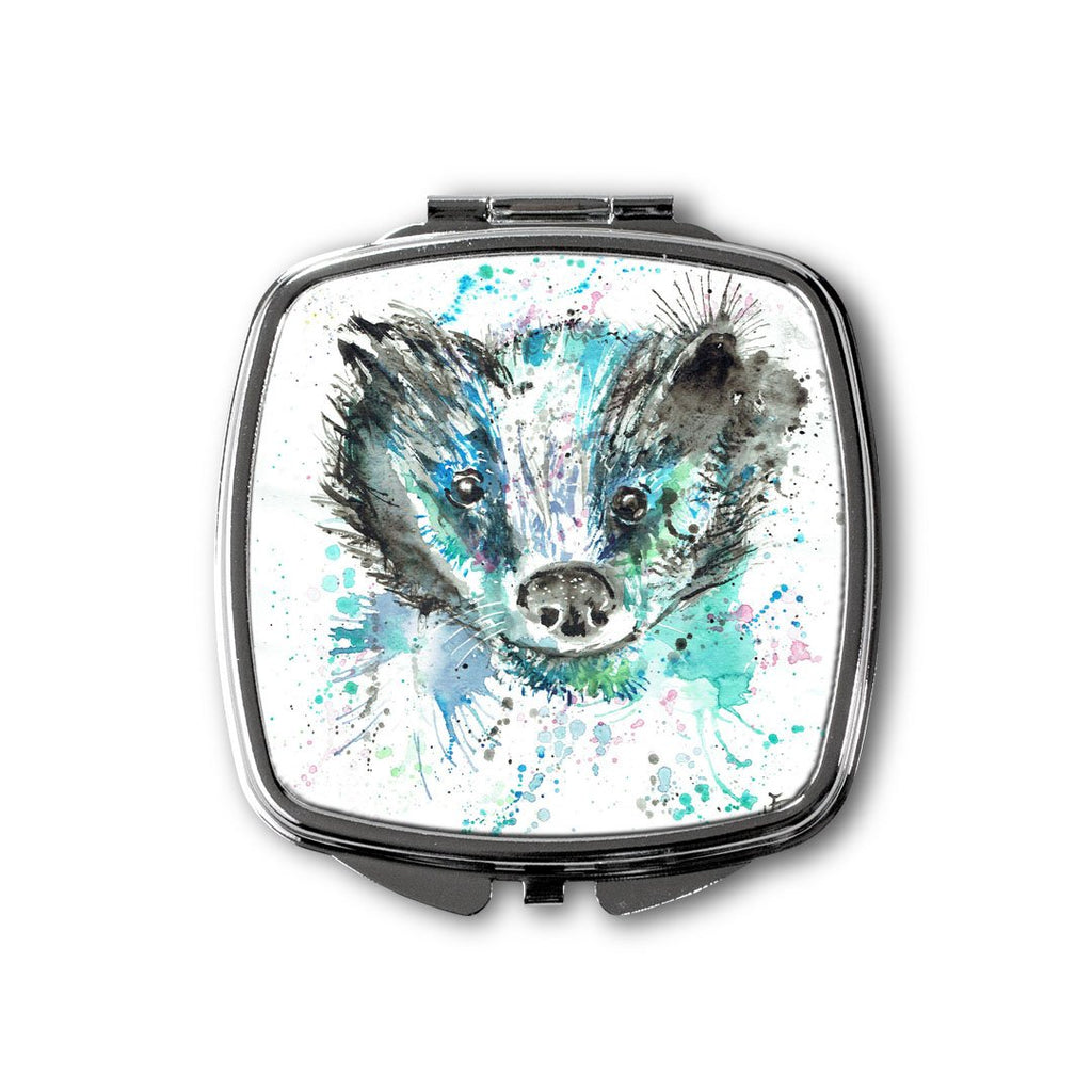 """Baz"" Badger Square Compact Mirror"