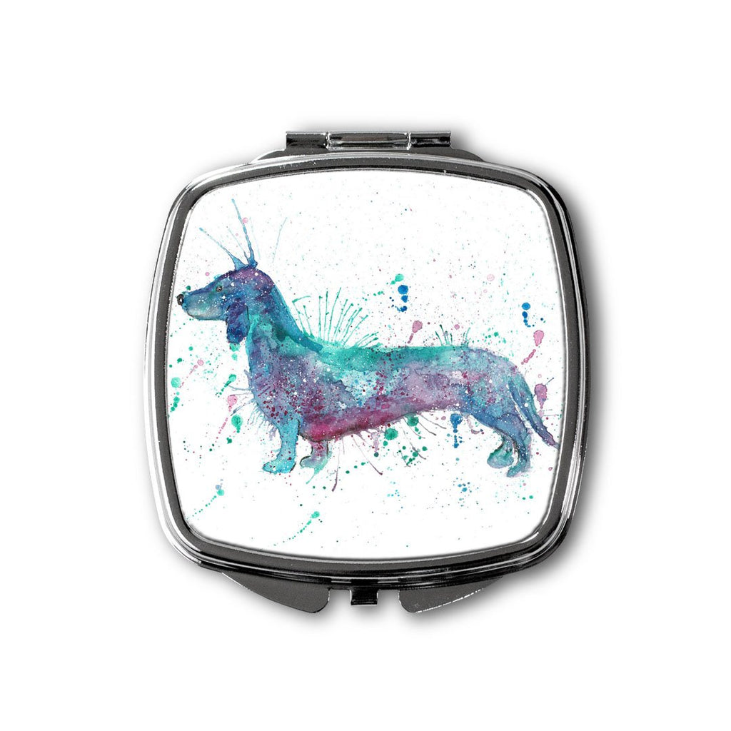 Mr Sausage Dog Square Compact Mirror