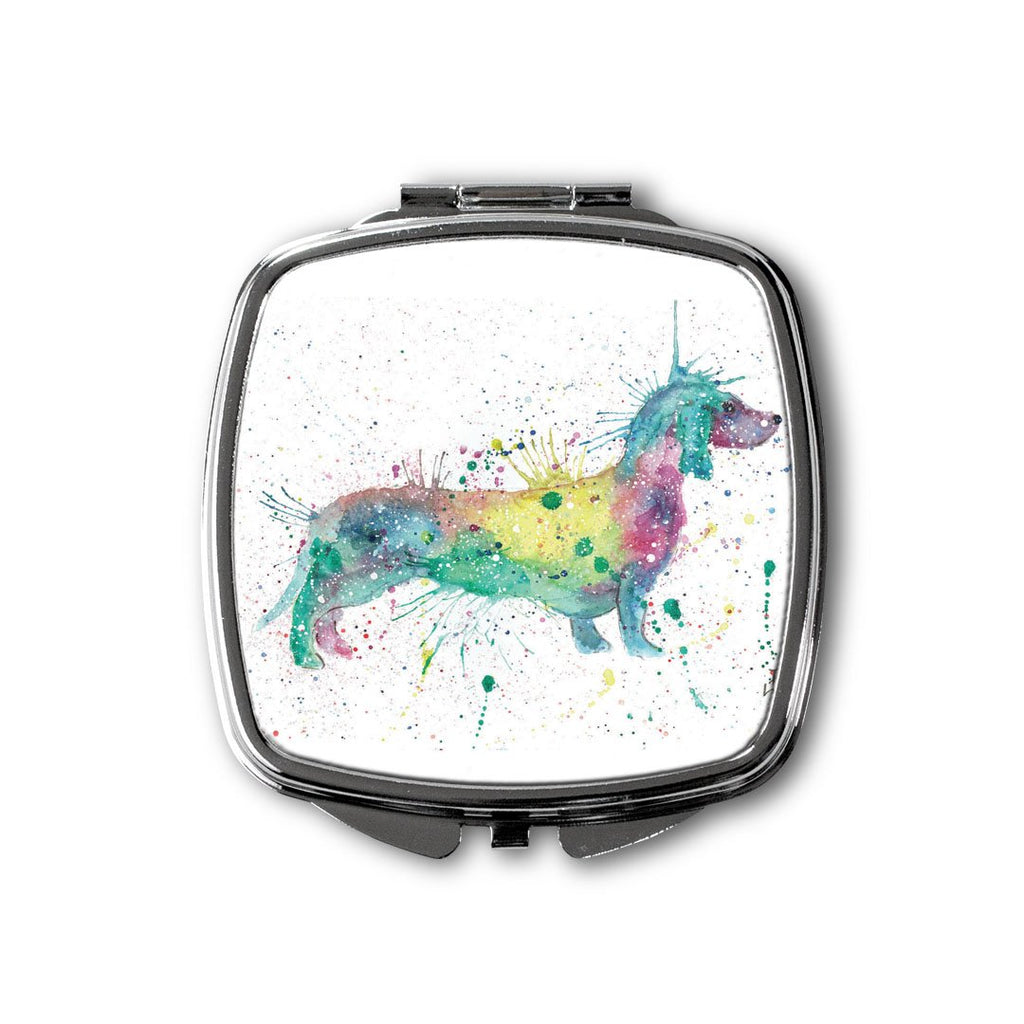 Mrs Sausage Dog Square Compact Mirror