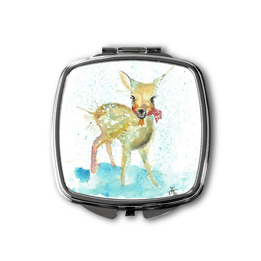 Oh Deer Square Compact Mirror