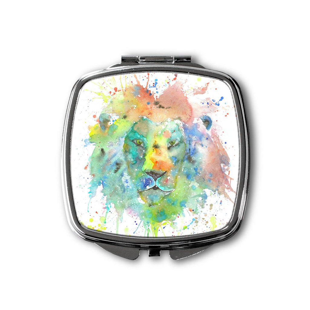 """King"" Lion Square Compact Mirror"