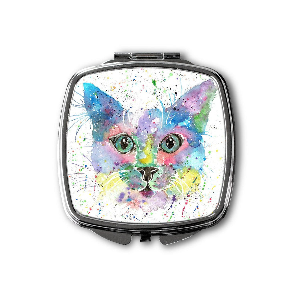 """Meep"" Cat Square Compact Mirror"