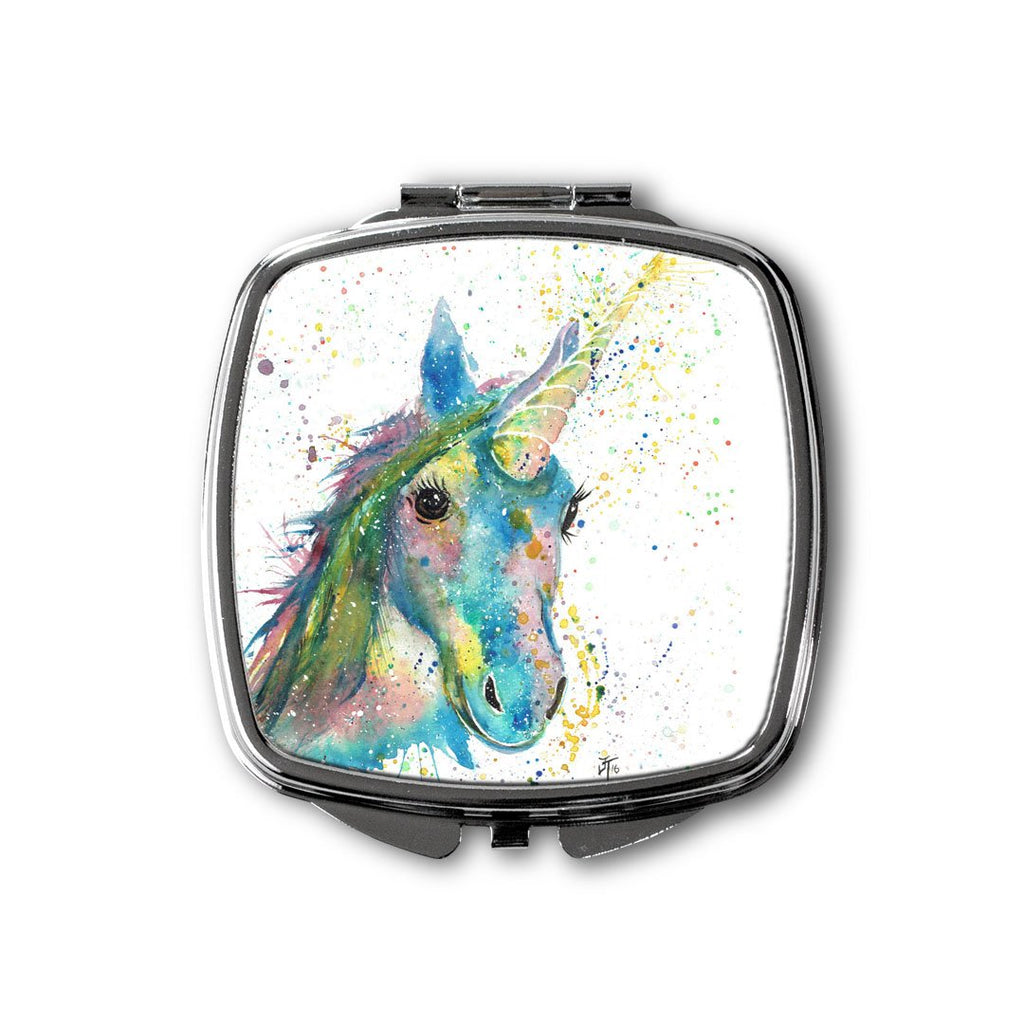 """Patty"" Unicorn Square Compact Mirror"