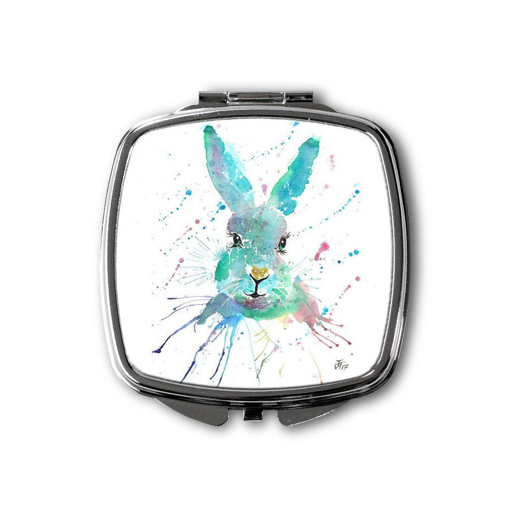 """Minty"" Hare Square Compact Mirror"