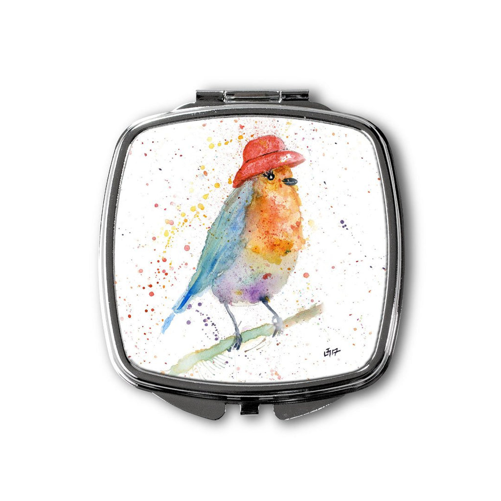 Mrs Robin Square Compact Mirror