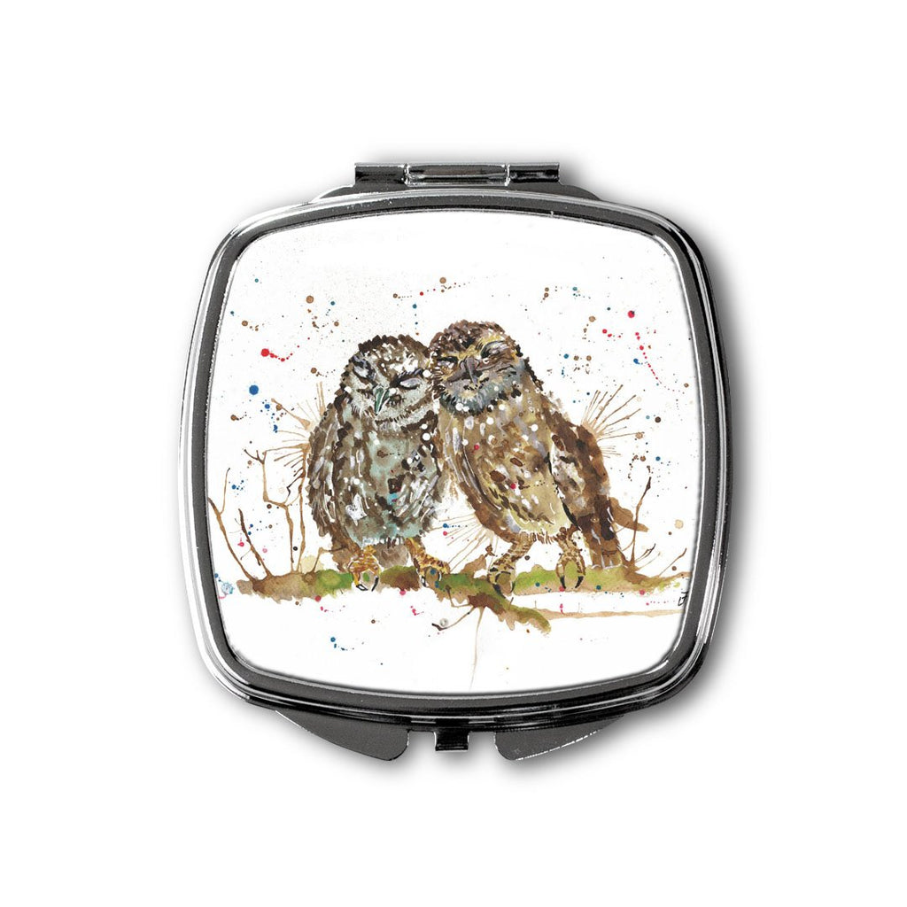 My Favourite Owl Square Compact Mirror