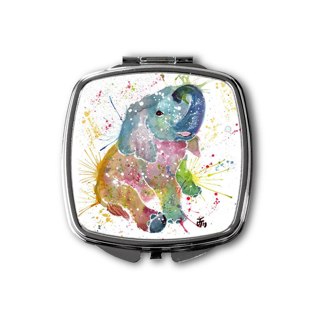 Baby Elephant Square Compact Mirror