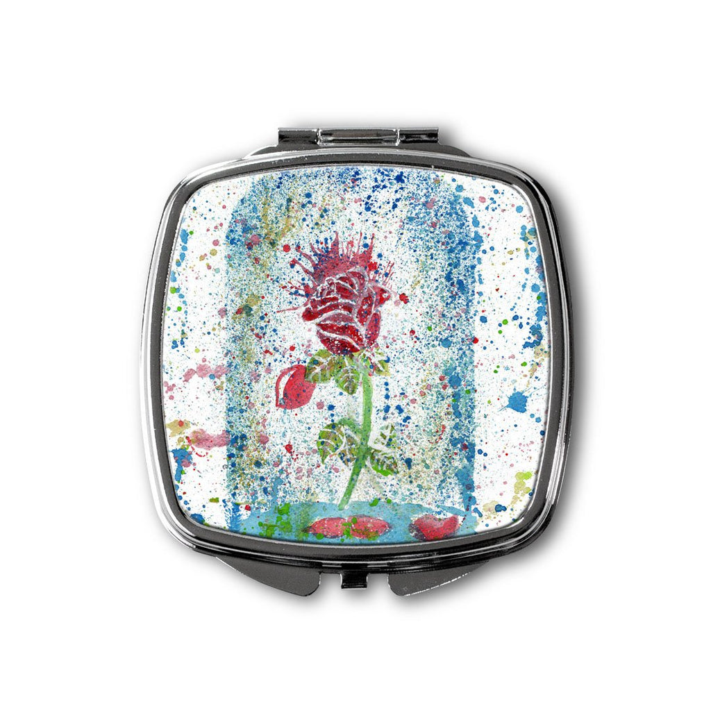 Magic Rose Square Compact Mirror