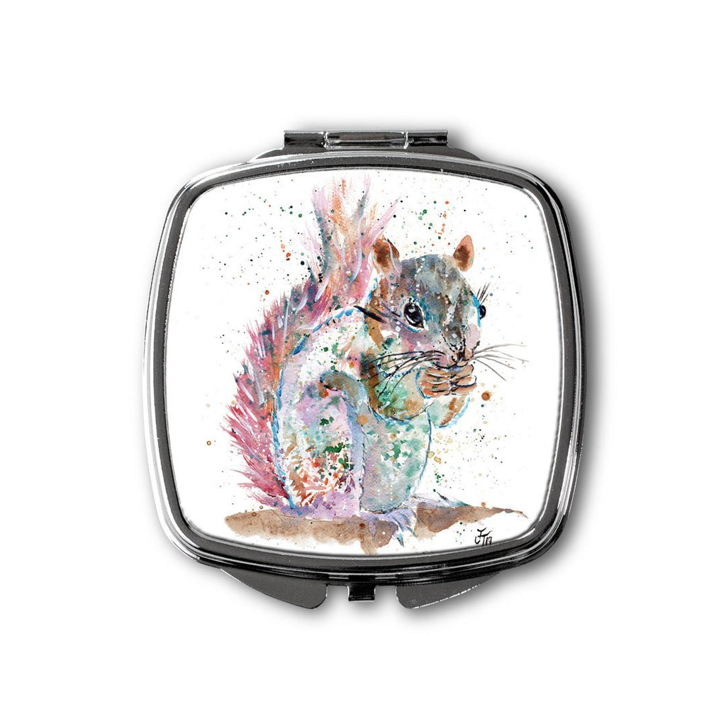 """Nige"" Squirrel Square Compact Mirror"