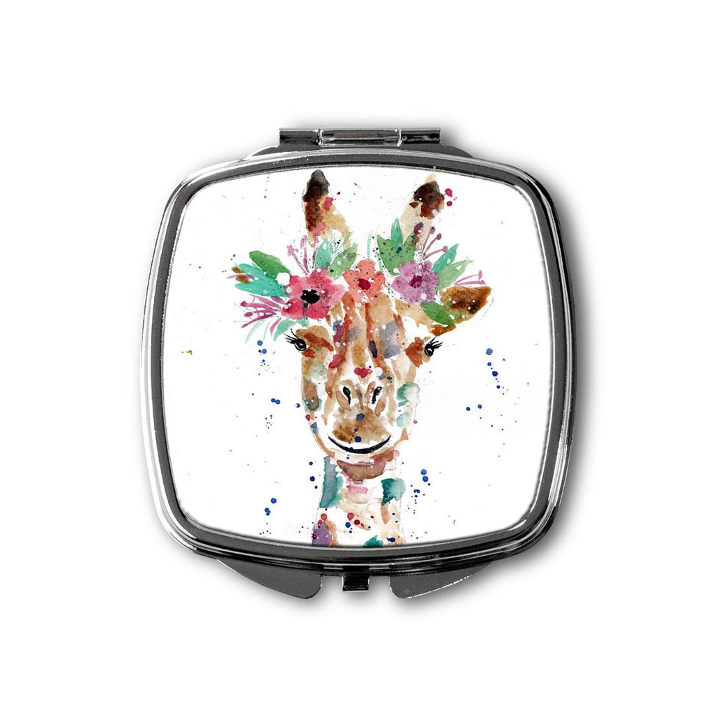 """Margot"" Giraffe Square Compact Mirror"