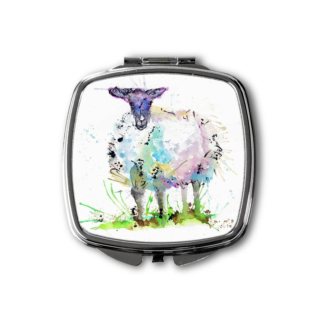 """I Adore Ewe"" Sheep Square Compact Mirror"