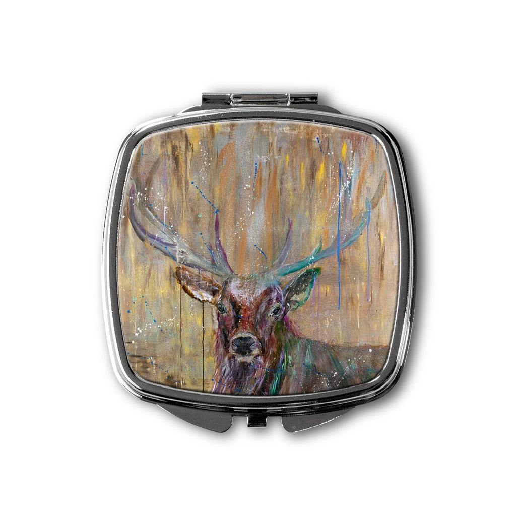 """Illustrious"" Stag Square Compact Mirror"