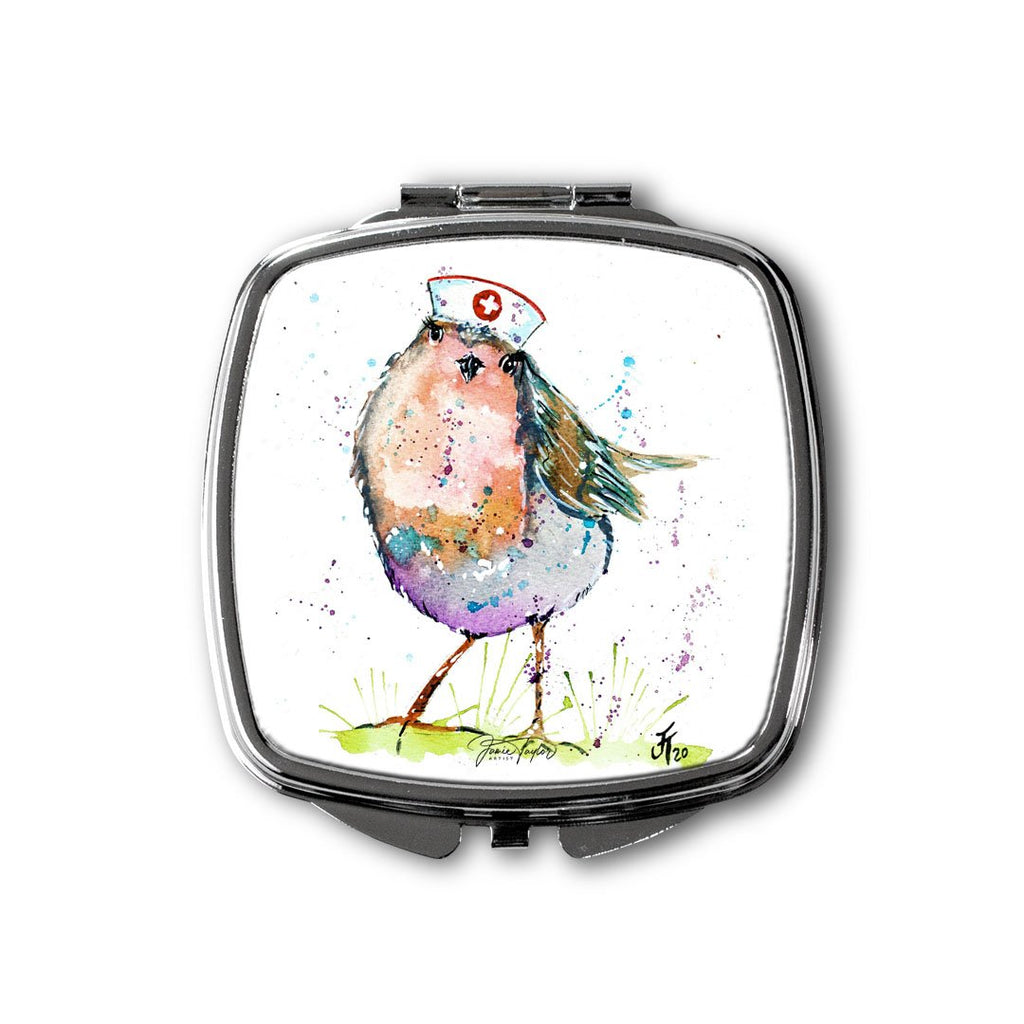 """Saviour"" Robin Square Compact Mirror"